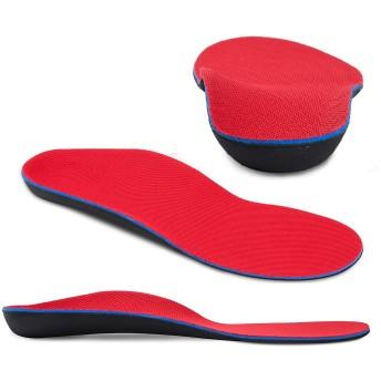 インソール 扁平足 矯正 アーチサポーター 足底筋膜炎 土踏まずサポーター 疲れにくい 中敷きクッション 衝撃吸収 О脚・Ⅹ脚矯正インソール 足裏サポーター (XS 22-23.5cm)