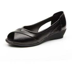 [サニーサニー] レディース サンダル オフィス ナースシューズ ローヒール 夏 通気性 黒 クッション 大きいサイズ 歩きやすい 疲れない 屈曲性 痛くない 軽い 快適 安定感 柔軟性抜群 幅広い 看護師シューズ べたんこ 婦人靴