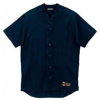 デサント 野球 ベースボール 立衿フルオープンシャツ(ルーズシルエット) ネイビー×ネイビー×ネイビー DB-55M-NVY <2019CON>