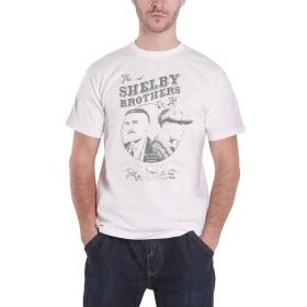 公式 Peaky Blinders T Shirt Shelby Brothers Circle Faces Logo 新しい メンズ Size S