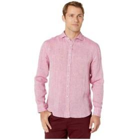 ブガッチ BUGATCHI メンズ シャツ トップス Long Sleeve Linen Shirt Berry