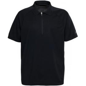 (トレスパス) Trespass メンズ メリカ 速乾ドライ 半袖 ポロシャツ スポーツウェア トレーニングシャツ アクティブウェア (S) (ブラック)