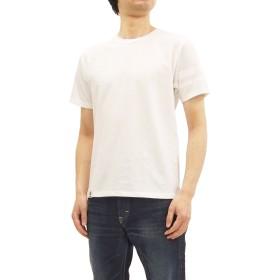 (桃太郎ジーンズ) Momotaro Jeans Tシャツ MT302 左袖出陣ライン メンズ 半袖Tee ホワイト (M)
