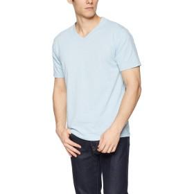 [ヘインズ] Tシャツ カラーズ Colors Vネック 24色展開 重ね着 RECOVERJersey メンズ ヘザーサックス 日本 M (日本サイズM相当)