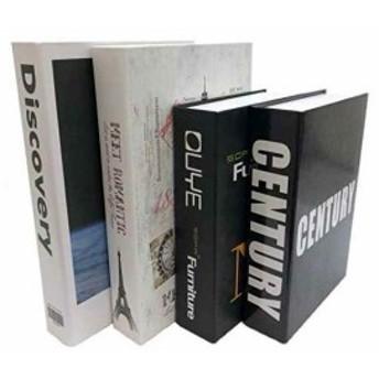 Gran Roi 飾る本 イミテーションブック 西洋書 インテリア本 本の置物 ディスプレイ 4冊セット C(4冊セット C)