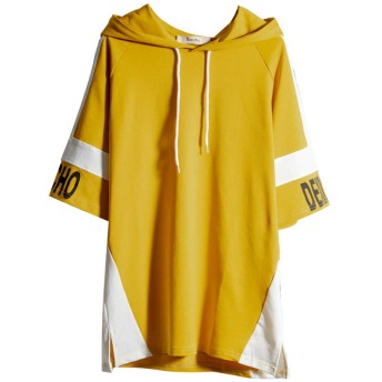 パーカー メンズ 長袖 原宿風 トレーナー カジュアル ファッション 日系 トップス 男女兼用 大きなサイズ コート 厚い (M, イエローa)