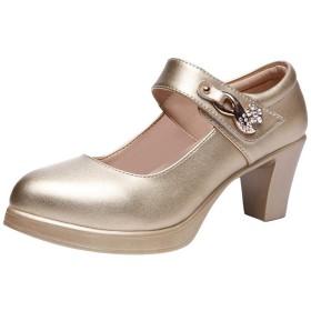 [ツネユウシューズ] 甲ストラップ ポインテッドトゥ チャンキーヒール パンプス 痛くない 黒 太ヒール 脱げない レディース 大きいサイズ ポインテッド ストラップパンプス 靴 歩きやすい ハイヒール 秋冬 綺麗 小さいサイズ 美脚