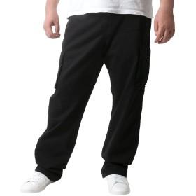 [ジェリーコスビー] メンズ 大きいサイズ カーゴポケット イージーパンツ ブラック 5L
