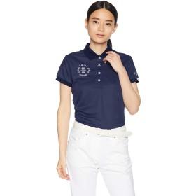 [キャロウェイ] [レディース] 速乾 半袖 ポロシャツ (ヨット柄ジャカード) / 241-9151811 / ゴルフ ウェア 120_ネイビー 日本 S (日本サイズS相当)
