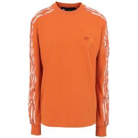 《期間限定セール開催中!》ADIDAS ORIGINALS by DANILLE CATHARI レディース スウェットシャツ オレンジ 30 コットン 93% / ポリウレタン 7% DC LONGSLEEVE