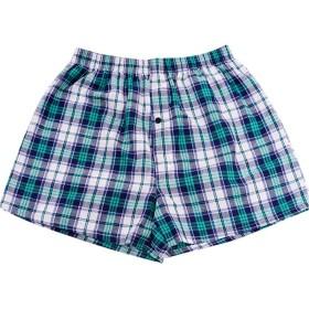 パンツ 綿100% チェックトランクス メンズ 緩い プリント トランクス ボタン付き 前開きタイプ 4枚組 セット