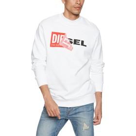 (ディーゼル) DIESEL メンズ スウェット Wロゴスウェット 00S8WC0IAEG XL ホワイト 100