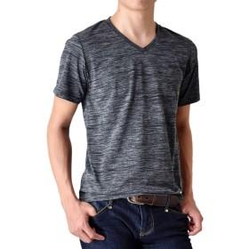 (アローナ)ARONA Tシャツ 半袖 メンズ ドライ Vネック /M1.5/ 18チャコールグレー系 M