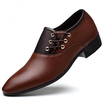 イフユ ビジネスシューズ革靴紳士靴ビッグサイズ有りストレートチップドレスシューズ通気性防水消臭衝撃吸収軽量