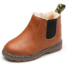 (ダダウン)DADAWEN 子供ブーツ 男の子 女の子 ショートブーツ 撥水 ジッパー付き 履きやすい 滑り止め 通園 通学 七五三 アウトドアシューズ イエロー 14cm