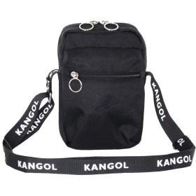[カンゴール] ショルダーバッグ KANGOLロゴプリントベルト ポシェット ブラック