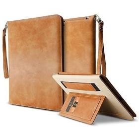 ウルトラスリム耐衝撃自動ウェイク睡眠レザーケーススマートカバーストリング保護ケースiPad用 (iPad mini 4, 茶)