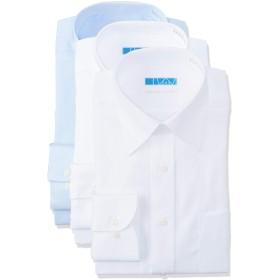 [ドレスコード101] ノーアイロン ワイシャツ メンズ(綿100% 形態安定 3枚組 セット) 10サイズ ツイル素材×3枚セット 日本 M(裄丈80) (日本サイズM相当)