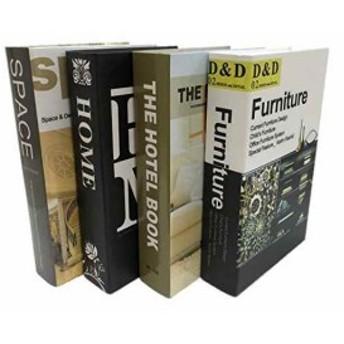 Gran Roi 飾る本 イミテーションブック 西洋書 インテリア本 本の置物 ディスプレイ 4冊セット(4冊セット A)