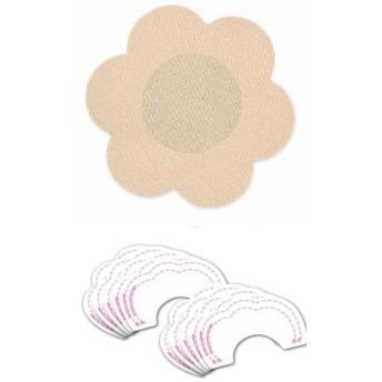 バストアップシール+ニプレス付き 女性 不織布製 ブラ テープ かぶれにくい カット 5組10枚セット (円)