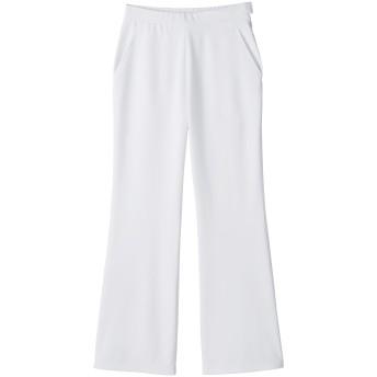 (ララスキル)LALA SKILL 医療 白衣 レディースパンツ/センサーニットブーツカット [制菌/吸汗速乾] F-9000 (Mホワイト)
