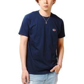 フルーツオブザルーム (FRUIT OF THE LOOM) ワッペン ロゴ Tシャツ (M, ネイビー)