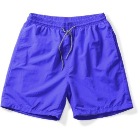 ショートパンツ メンズ サーフパンツ 吸汗速乾 速乾軽量 水陸両用 海水パンツ 水着 温泉 スポーツ 短パン ジムウェア トレーニング ビーチ ブルー