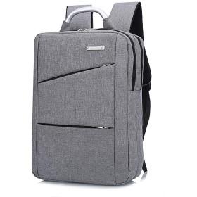 ビジネスリュック男女兼用PCバックパック多機能大容量軽量防水耐衝撃通勤アウトドア旅行08-gray
