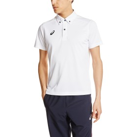 [アシックス] フィットネス シャツ ボタンダウンシャツ XA6183 [メンズ] ホワイト 日本 L (日本サイズL相当)