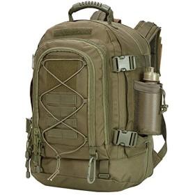 フリーラン 600Dアウトドア リュック 拡張可能64L タクティカル バッグ, 防水耐震 旅行バッグ (グリーン)