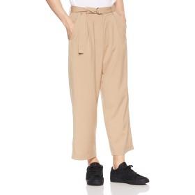 [ウィゴー] WEGO ストレッチ ベルト ワイド スラックス パンツ L ベージュ メンズ