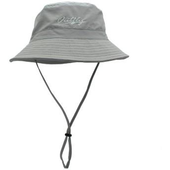 PULI UVカット キャップ 日よけ帽子 レディース メンズ アウトドア 旅行用 紫外線対策 UVハット 防水加工 通気 紐付き グレー