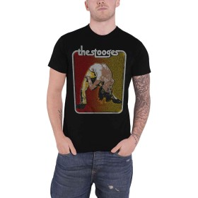 Iggy Pop & The Stooges T Shirt Iggy Bent Double Logo 新しい 公式 メンズ Size XL