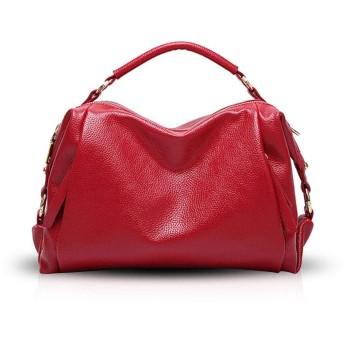 NICOLE&DORIS ミニボストンバッグ レディース ショルダーバッグ ハンドバッグ 2way トートバッグ 可愛い 斜めがけバッグ 手提げバッグ ビジネスバッグカバン 通勤 防水 おしゃれ 高級 PUレザー プレゼント 赤