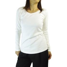 (ケージービー) K.G.B 長袖Tシャツ ロンT カットソー レディース 無地 コットン 3L/オフホワイト