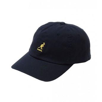 KANGOL(カンゴール) ウォッシュ ベースボール キャップ ローキャップ 帽子 ロゴキャップ ロゴ メンズ レディース サイズ調節可能 Washed Baseball cap (71 ネイビー)