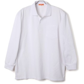 【大きいサイズのサカゼン】 B&T CLUB 鹿の子 無地カラー ポケット付き 長袖 ポロシャツ X2 ホワイト [ウェア&シ. [ウェア&シューズ]