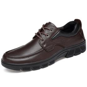 [Ziv-Nat] ビジネスシューズ メンズ 紳士靴 カジュアル スニーカー 通勤 お出かけ トラベル レジャー 防滑 滑り止め オフィス ウォーキングシューズ オシャレ 耐久性 29.0cm 褐色 ブラウン