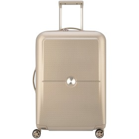 DELSEY デルセー スーツケース 中型 mサイズ キャリーケース ハード キャリーバッグ 100%PC 大容量 軽量 セキュリテックZIP TURENNE 修学旅行 10年国際保証 (ベージュ/62L)