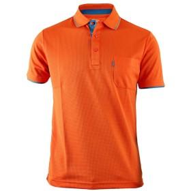 BCPOLOメンズスポーツウェアポロシャツ機能性カジュアルシャツ-S-orange L