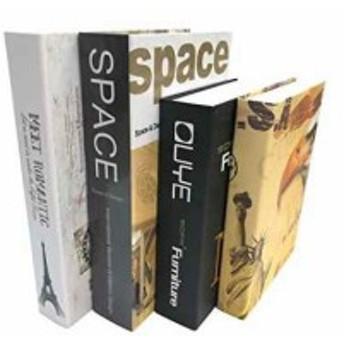 Gran Roi 飾る 本 イミテーション ブック 西洋書 インテリア 置物 ディスプレイ モダン 4冊セット(4冊セット I)