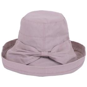 [ヴィヴィラウンジ] 紫外線 帽子 ハット 日焼け 防止 女優帽 UV カット 日除け 折りたたみ レディース (パープル)