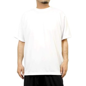 Tシャツ メンズ 大きいサイズ 半袖 吸汗速乾 ドライ メッシュ UVカット 無地 クルーネック カットソー 4L ホワイト