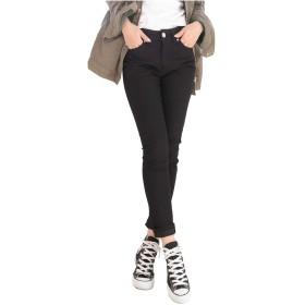 [クロスマーベリー] スタイルアップ 伸縮 ストレッチ カラーデニム パンツ 美脚 美尻 楽ちん 大人 カジュアル シンプル デザイン かっこいい おしゃれ スキニー ジーンズ ジーパン レディース 女性 ガールズ 大きいサイズ (S02 ブラック S)
