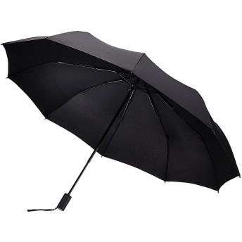 EDTRE 手動開閉 折りたたみ傘 レディース メンズ 晴雨兼用 軽量290g 10本骨 116cm大きさ 収納ポーチ付 高強度グラスファイバー伞骨 Teflon 耐風撥水 丈夫 折り畳み傘 日傘 梅雨 携帯しやすい 出張 旅行 通勤(ブラック)