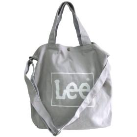 [リー] Lee トート ショルダー バッグ 2way キャンバス 帆布 ロゴ グレー