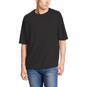 (ユナイテッドアスレ)UnitedAthle 5.6オンス ビッグシルエット Tシャツ(ポケット付) 500801 002 ブラック L