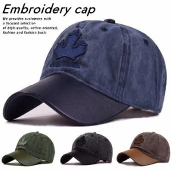 ローキャップ キャップ 帽子 メンズ レディース CANADA 刺繍 Vintage Embroidery cap アメカジ 送料無料 7992307 190712