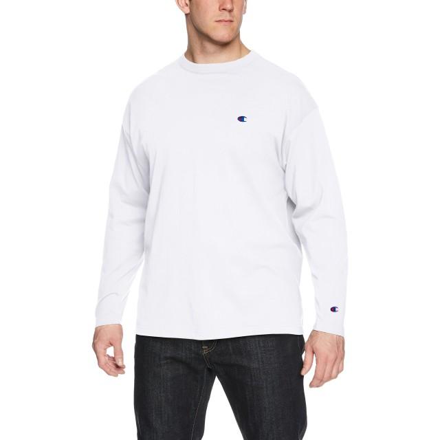 [チャンピオン] ワンポイントロゴ ロングスリーブTシャツ ベーシック 大きいサイズ C3-J424L メンズ ホワイト 日本 5L (日本サイズ5L相当)