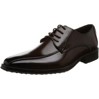 [サンエープラス] 2672 ビジネスシューズ 靴 紳士靴 メンズ 滑りにくい 防滑 PUレザー ロングノーズ (30.0, ダークブラウン)